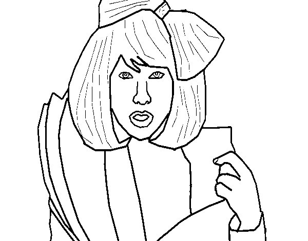 Desenho De Lady Gaga Para Colorir