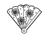 Desenho de Leque espanhol para colorear