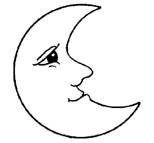 Desenho de Lua para Colorir