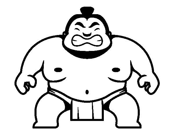 Desenho de Lutador japonês para Colorir