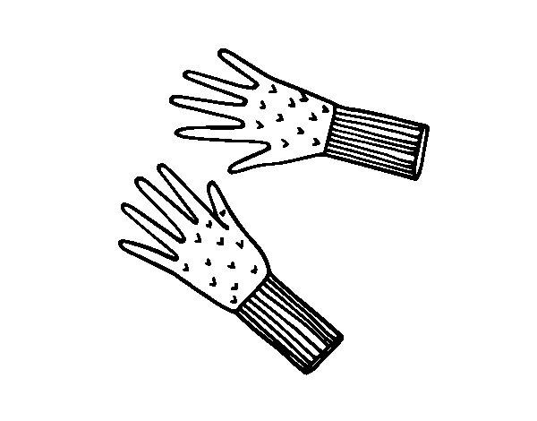 Desenho de Luvas de lã para Colorir
