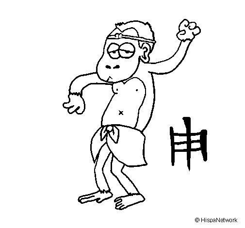 Desenho de Macaco para Colorir