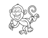 Desenho de Macaco-prego para colorear