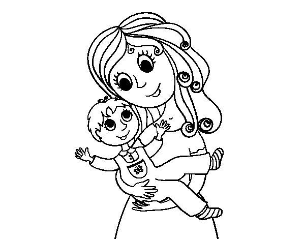 Y Love You Mama Kleurplaat Desenho De M 227 E Com Seu Filho Para Colorir Colorir Com