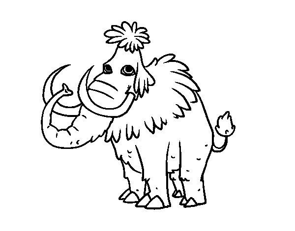 Desenho de Mamute pré-histórico para Colorir