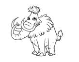 Dibujo de Mamute pré-histórico