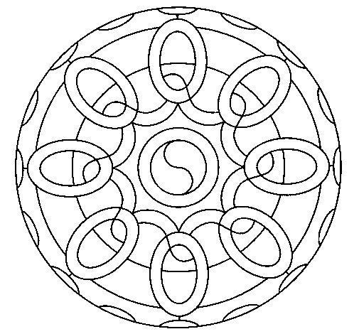 Desenho de Mandala 26 para Colorir