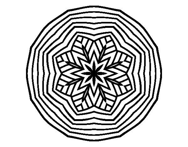 Desenho de Mandala aéreo para Colorir