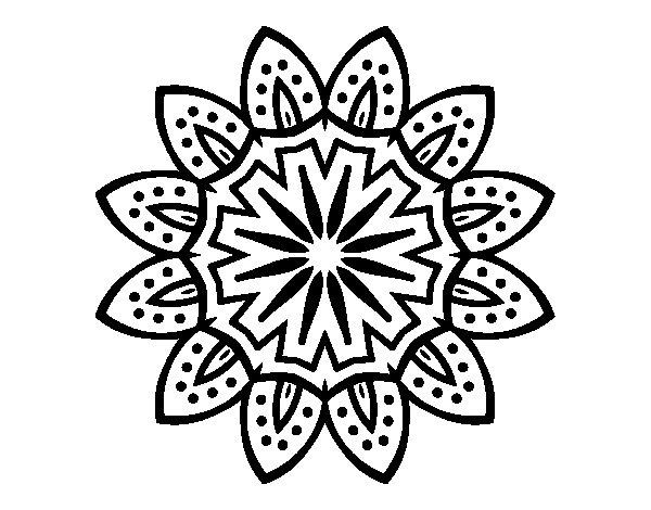 Desenho de Mandala com pétalas para Colorir