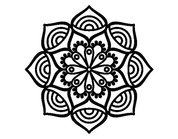 Desenho de Mandala crescimento exponencial para Colorir