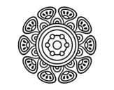 Desenho de Mandala crescimento vegetal para colorear