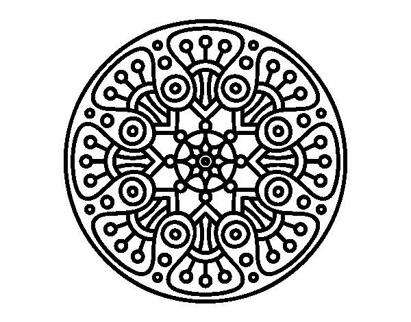 Desenho de Mandala crop circle para Colorir