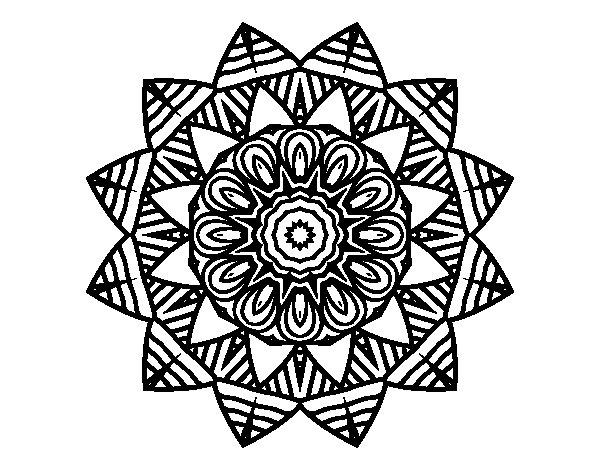 Desenho de Mandala de fruto para Colorir