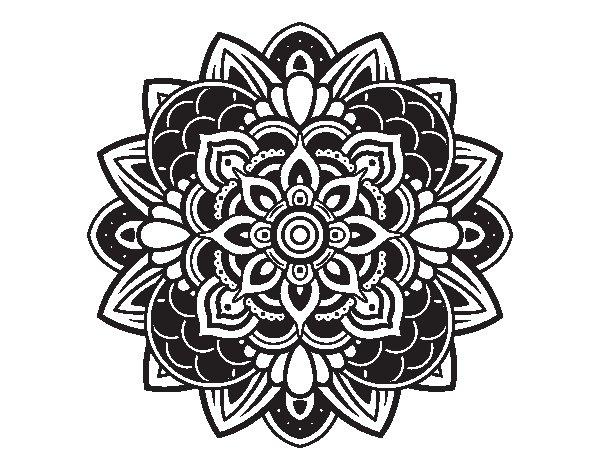 Desenho de Mandala decorativa para Colorir