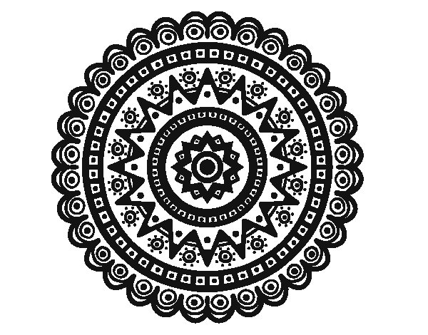 Desenho de Mandala étnica para Colorir