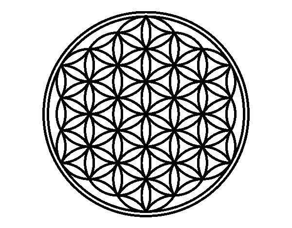 Desenho de Mandala flor de vida para Colorir