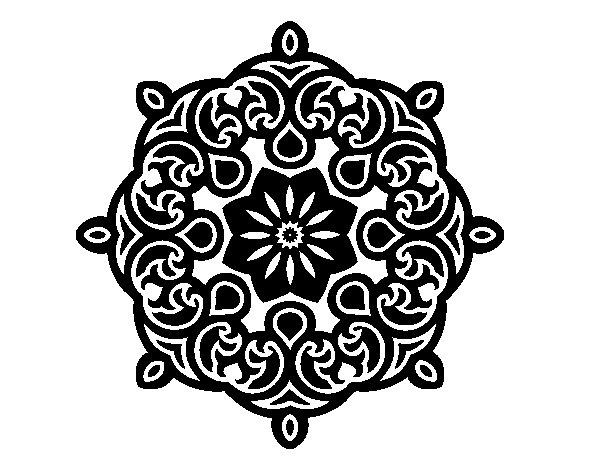 Desenho de Mandala nuvem para Colorir