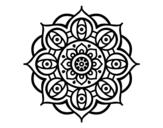 Desenho de Mandala olhos para colorear