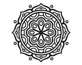 Desenho de Mandala para meditar para colorear