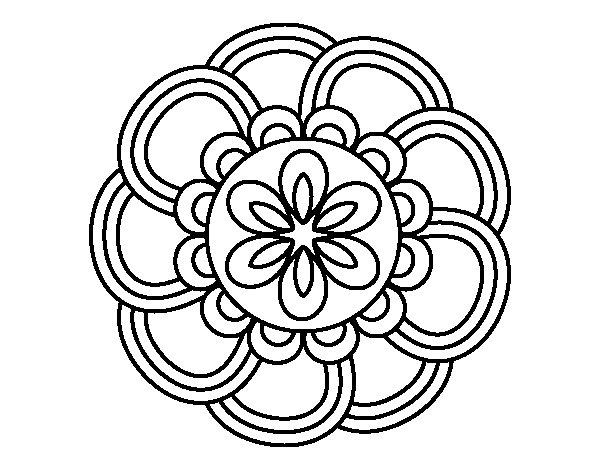 Desenho De Mandala Pétalas Para Colorir