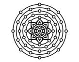 Dibujo de Mandala sistema solar