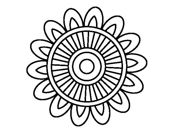 Desenho de Mandala solar para Colorir