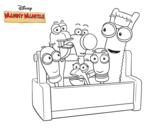 Desenho de Manny Mãozinhas - Ferramentas para colorear
