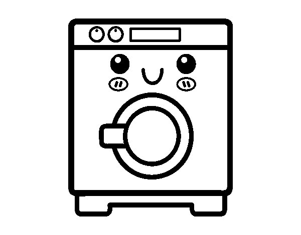 desenho de m quina de lavar roupa para colorir. Black Bedroom Furniture Sets. Home Design Ideas