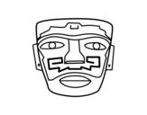 Dibujo de Máscara ancestral Aztec