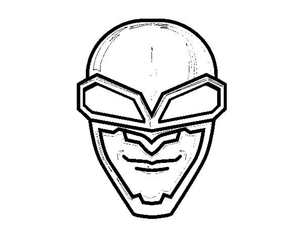 Desenho De Máscara Aviador Para Colorir