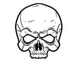 Desenho de Máscara Caveira para colorear