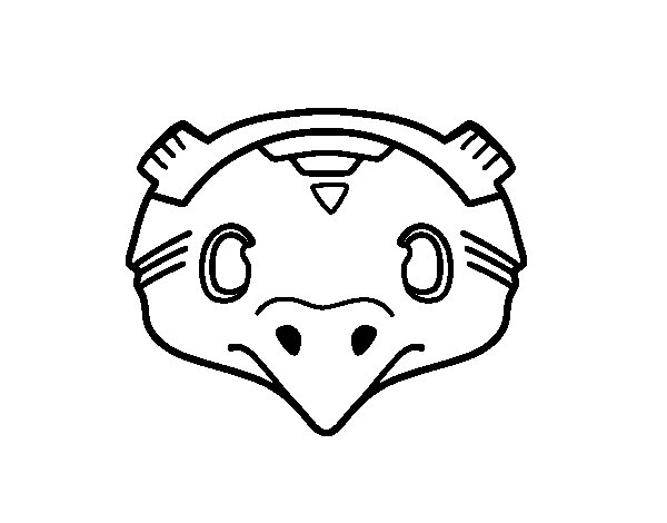 Desenho de Máscara mexicana de pássaro para Colorir