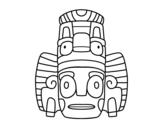 Dibujo de Máscara mexicana dos rituais