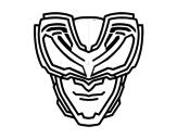Desenho de Máscara raios X para colorear