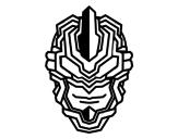 Desenho de Máscara robô para colorear