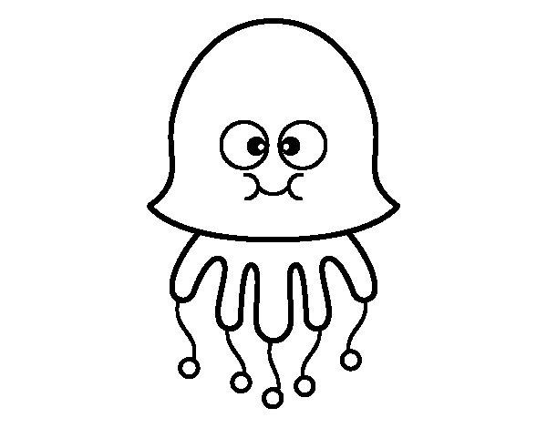 Desenho De Medusa Divertida Para Colorir