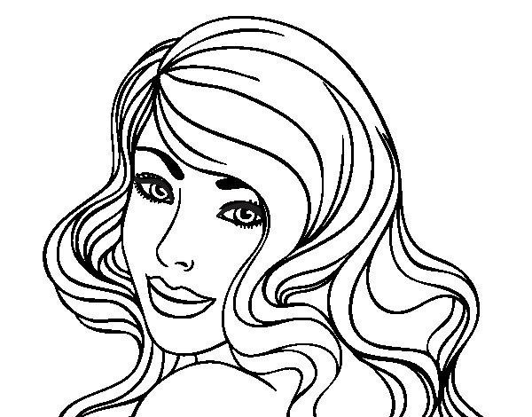 Desenho de Menina jovem para Colorir