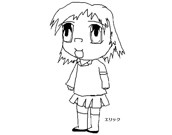 Desenho de Menina no uniforme para Colorir