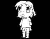 Dibujo de Menina no uniforme