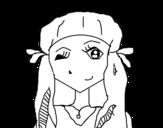 Dibujo de Menina piscando