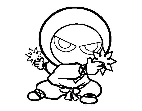 Desenho de Menino ninja para Colorir