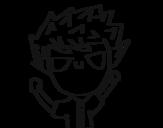Desenho de Menino travesso para colorear