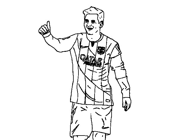 soccer coloring pages neymar barcelona - photo#23