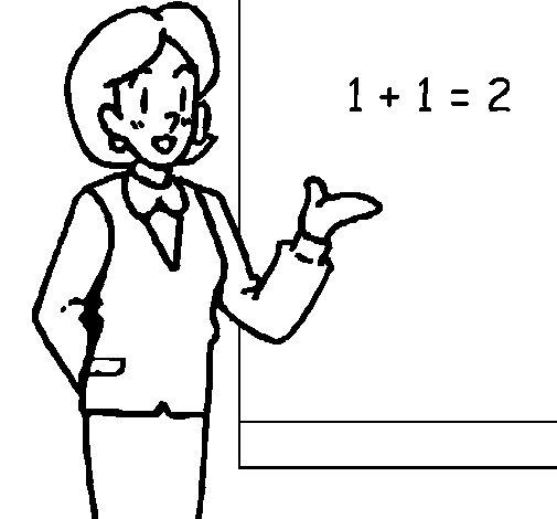 Desenho de Mestre de matemática para Colorir