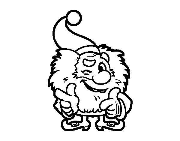Desenho De Mini Papai Noel Para Colorir