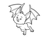 Desenho de Morcego simpático para colorear