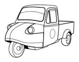 Desenho de Motocicleta camionete para colorear