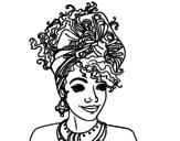 Dibujo de Mulher africana
