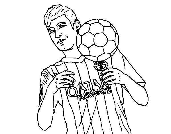 soccer coloring pages neymar skills - photo#23