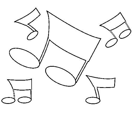 Desenho de Notas musicais para Colorir